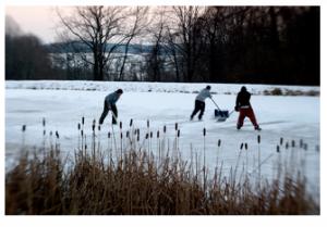 Frozen Pond Fun