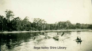 Whales in Twofold Bay, 1930s, photograph from collection of Bega Valley Shire Library Photograph Collection