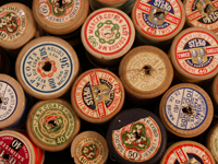 Cotton reels from Surrey Arts Wardrobe Collection