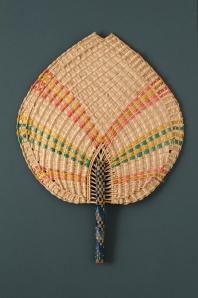 Coconut leaf heart-shaped fixed fan  Tokelau Islands (probably Fakaofo), NZ, 20th century