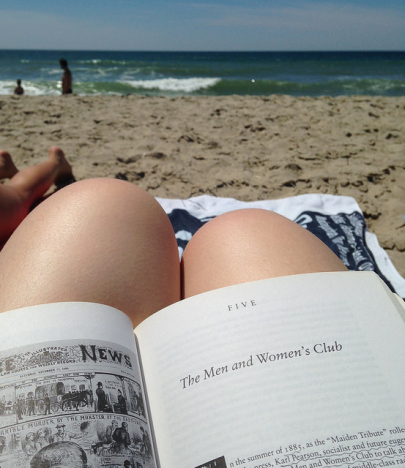 Reading by the sea